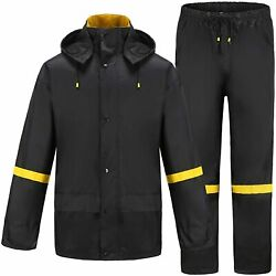 Ourcan Rain Suits For Men Classic Rain Gear Waterproof Rain Coats Hooded Manand039s R