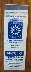Arco Gas Station Matchbook Tomand039s Arco Auto Clinic Elgin Illinois -f28