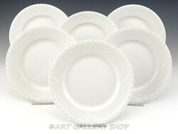 Royal Copenhagen White Half Lace 6-1/4 Bread And Butter Plates Set Of 6