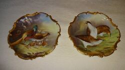 Limoges France 15 5/8 Game Bird Charger Plate Hand Painted Artist Broussillon