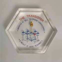 The Transistor Paperweight Bell Telephone Laboratories Lucite Western Electric