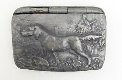 Vintage Pewter Snuff Box – Hunting Dog On Point