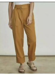 ELIZABETH amp; JAMES Rock Casual Paperbag Waist High Rise Cuffed Pants Size 2 NWT $19.99