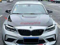 Real Carbon Fiber Front Hood Vented Bonnet Cover Fit For Bmw 2 Series 2019-2021