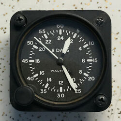 Waltham Watch Co A-11 24 Hour 22815-s-24 Aircraft Clock White Numbers Hands