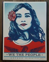 Shepard Fairey - We The People Defend Dignity Rare Artist Print 2017