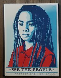 Shepard Fairey - We The People Protect Each Other Rare Artist Print 2017