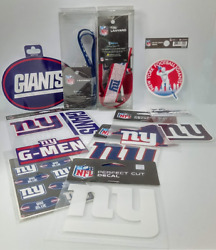 Ny Giants Nfl Decals Lanyards Superfan Pack New York Football Stickers