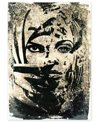 Shepard Fairey Obey And Vhils - Universal Personhood - Hand Finished