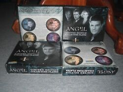 Angel Series 1 Vintage Plates Set Of 4 New Never Opened Still In Original Boxes