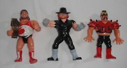 Wwf Wwe Hasbro 1990s Different Figures Vintage Lot Of 38 Blue Ring And More