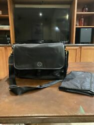 Tory Burch Black Messenger Diaper Bag with Changing Pad $65.00