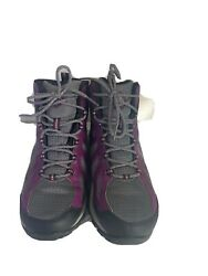 Womenandrsquos Purple And Black Columbia Omni Grip Hiking Boots Waterpr Shoes Size 8