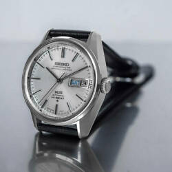 King Seiko Hi-beat 5626-7041 Ks Day-date Automatic Silver Dial Watch