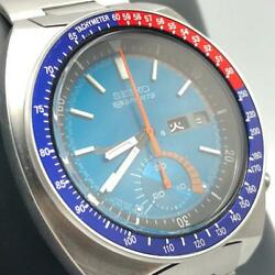 Seiko 5 Sports 6139-6002 Chronograph Day-date Pepsi Automatic Blue Dial Watch
