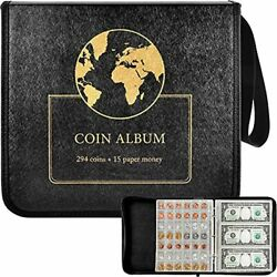 Coin Collection Holder Album Book For Collectors, 294 Pockets Coins Collecting S