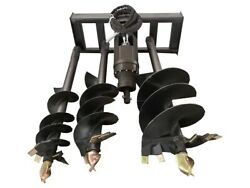 Agrotk Skid Steer Auger Attachment With 3 Bits 8 12 14