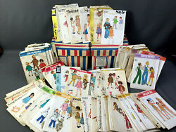 Huge Lot 77 Vtg 1960s-and03970s Sewing Patterns Childrenand039s Clothing Boy Girl Toddler