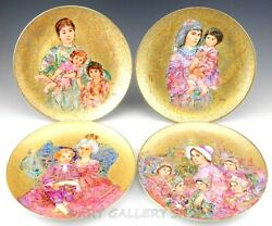 Edna Hibel Famous Women And Children Collector Plates Limited Edition Set Of 4
