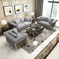 Design Three-seater Couch Pads Sofa Modern 3er Seat Sofas Room Furniture Grey