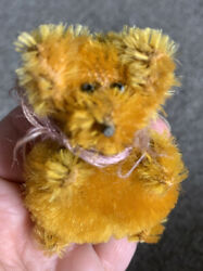 """Rare Schuco Germany Perfume Atomizer Bear 3"""" Excellent Mohair 1920s 30s Look"""