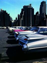 V5946 New York Cars Old Retro Vintage Classic Wall Poster Print Plakat