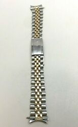 Rolex Jubilee 14k Gold Stainless 20mm Jb Usa Made Oval Link Gmt 1675 And 1601