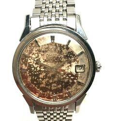 Omega Stainless Steel Constellation 14902 62 Sc Pie Pan Dial Beads Of Rice Band
