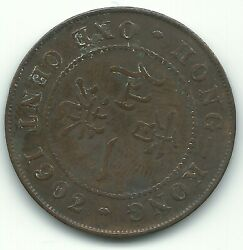 Fine Condition 1902 Hong Kong One Cent-penny-may400