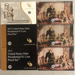2007,2008,2010,2011,2012,2013 Us Mint Presidential 1 Coin Proof Sets