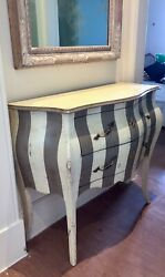 Chest Of 2 Drawers - Italian Hand-painted Solid Wood Commode - Stunning