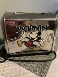Mickey Mouse Morninandrsquo Musical Toaster Mickey Toast Villaware Works Excellent