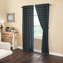 Vhc Pine Grove Green Buffalo Check Farmhouse Lined Cotton Rustic Country Panels
