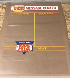 Rare Vintage Burger King Kids Club Message Center Sign 34andrdquox22andrdquo