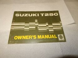 Suzuki T250 Hustler Model Oem Owners Manual 1969 Rare To Find. Great Condition