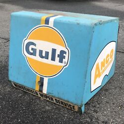 Vintage Gulf Gas Oil Station Anco Windshield Wiper Display Cabinet