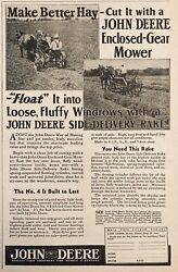 1936 Ad.xh17john Deere Co. No.4 Gear Mower And Side-delivery Rake