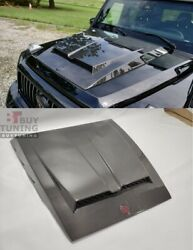 Carbon Hood Scoop With Badge For Mercedes-benz G-wagon W463 New Style W463a Stoc