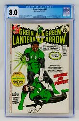 Green Lantern 87 Cgc 8.0 White Pages First John Stewart Appearance 1st App Vf