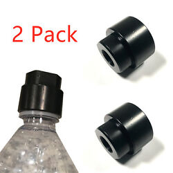 2 Pack Soda Pop Bottle 1/2x28 Tpi Cleaning Patch Trap Adapter For .223 And 9mm