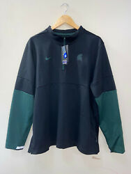 Nike Michigan State Spartans On Field Therma 1/4 Zip Jacket Mens Xl Cq5718-010