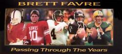 Brett Favre Passing Through The Years Poster 15x36 Green Bay Packers Nfl