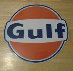 Gulf Oil Vintage-style Tin Road Sign