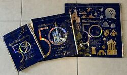 3 Disney World 50th Anniversay Reusable Bags Small Medium And Large