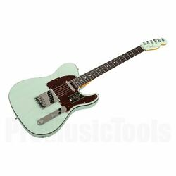Fender American Ultra Luxe Telecaster Rw - Transparent Surf Green New