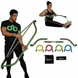 Gorilla Bow Portable Home Gym Resistance Bands And Bar System For Travel Fitn...