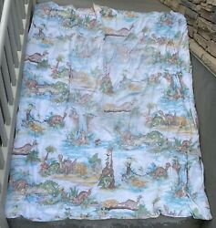 """Vtg 1987 The Land Before Time Littlefoot And Friends Comforter Blanket 85 X70"""""""