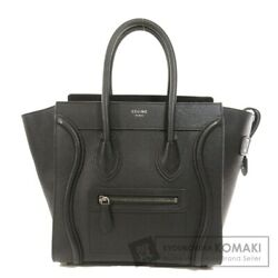 Celine Luggage Micro Black Tote Bag Calf Women And039s Secondhand _89150