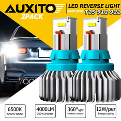 Auxito Led Reverse Backup Light Bulbs T15 912 921 Extremely Bright White 6500k