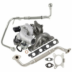 For Audi And Vw 2.0t Bpy New Turbo Kit With Turbocharger Gaskets And Oil Line Dac